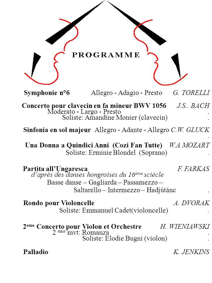 Symphonie n°6 Allegro - Adagio - Presto G.