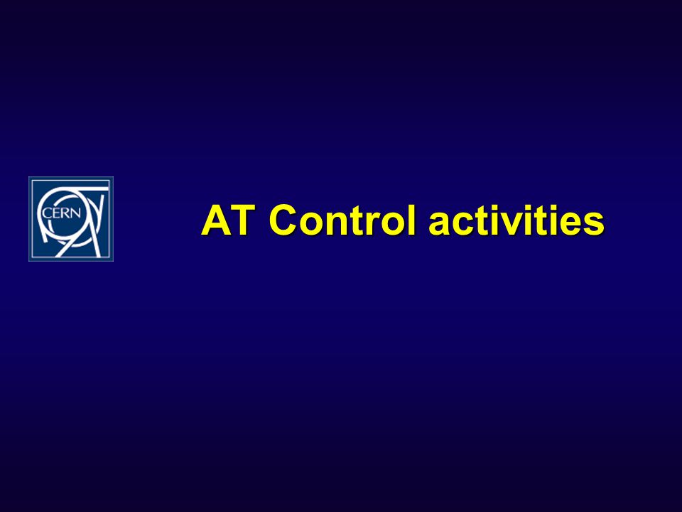 AT Control activities