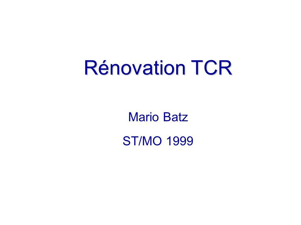 Rénovation TCR Mario Batz ST/MO 1999