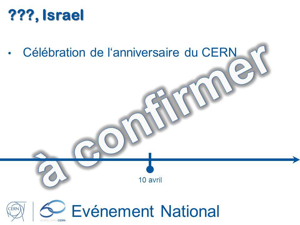 Evénement National ???, Israel Célébration de lanniversaire du CERN 10 avril