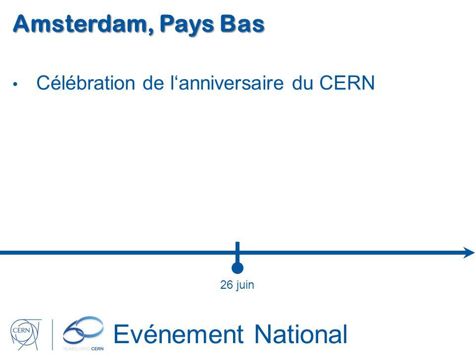 Evénement National Amsterdam, Pays Bas Célébration de lanniversaire du CERN 26 juin