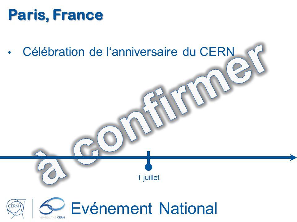 Evénement National Paris, France Célébration de lanniversaire du CERN 1 juillet