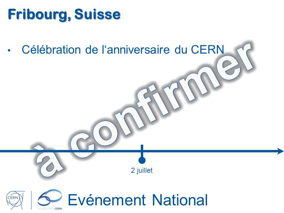 Evénement National Fribourg, Suisse Célébration de lanniversaire du CERN 2 juillet