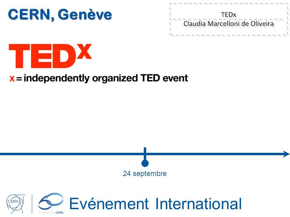 Evénement International CERN, Genève 24 septembre