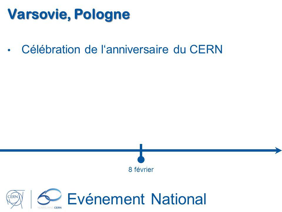 Evénement National Varsovie, Pologne Célébration de lanniversaire du CERN 8 février