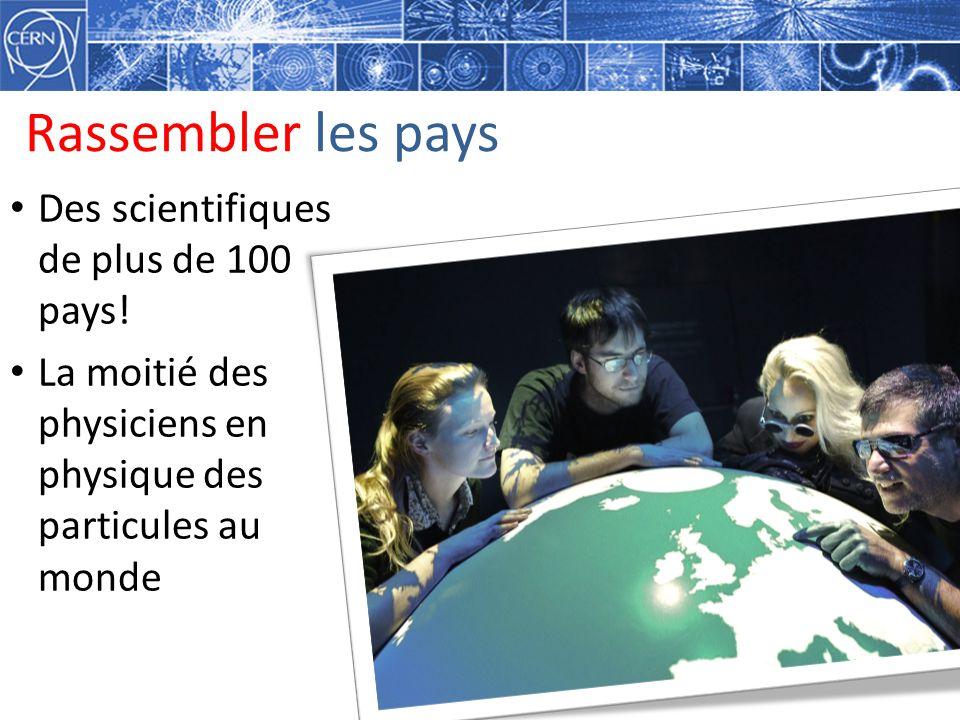 Rassembler les pays Des scientifiques de plus de 100 pays! La moitié des physiciens en physique des particules au monde