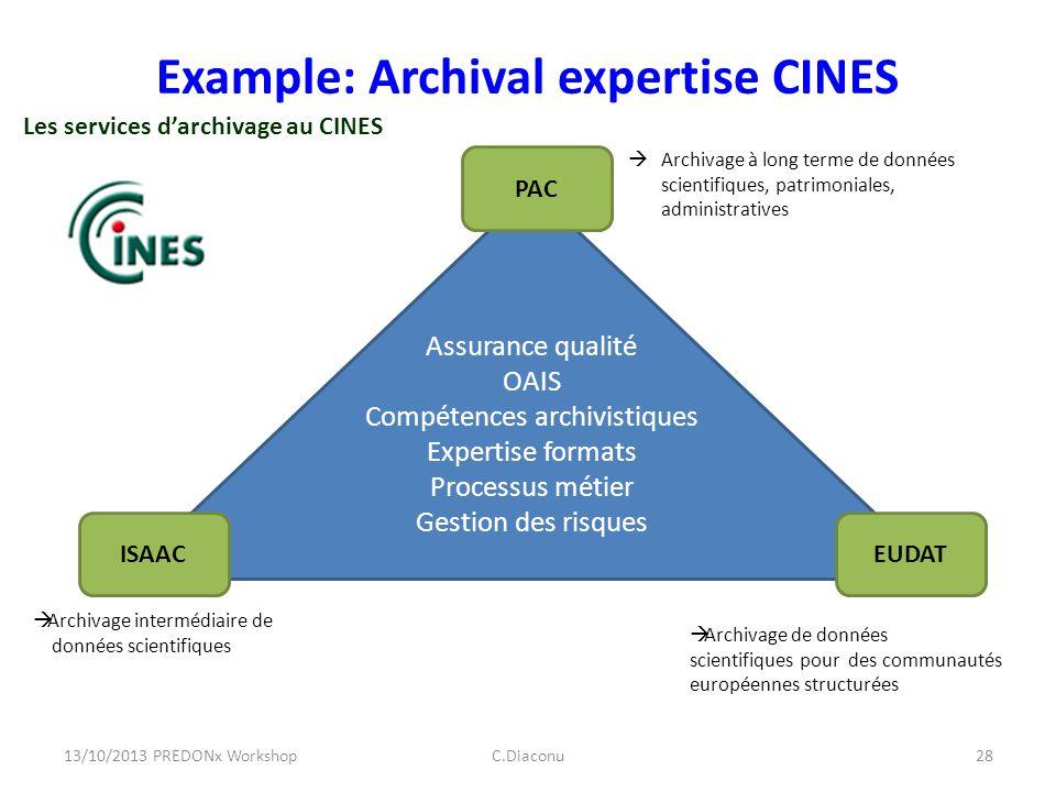 Archivage de données scientifiques pour des communautés européennes structurées Archivage à long terme de données scientifiques, patrimoniales, admini