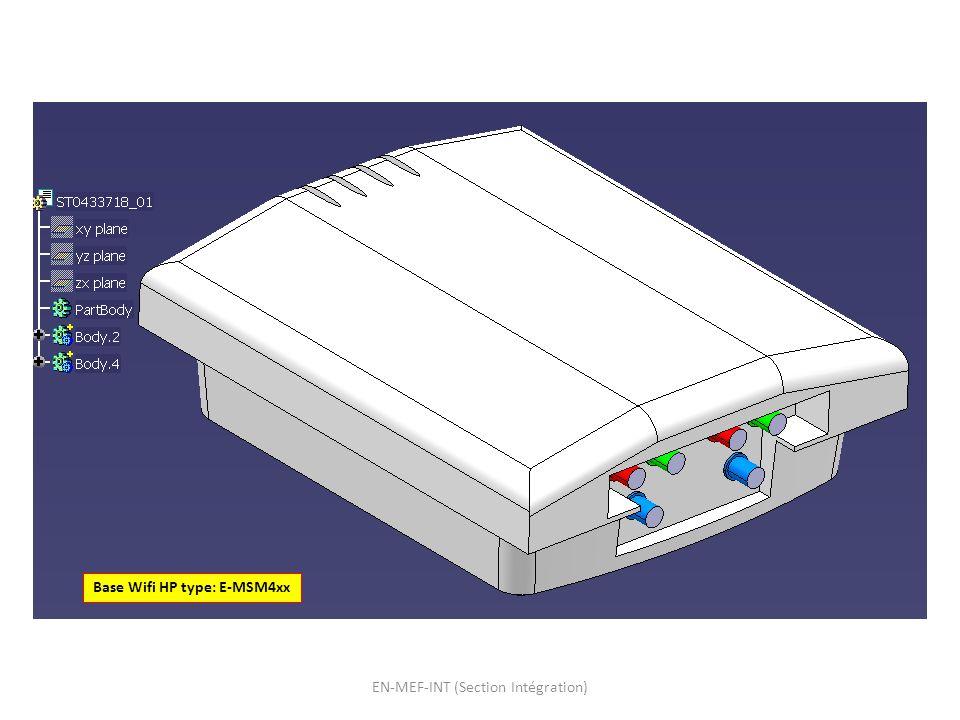 UL14-2014 Position Base Wifi: Hauteur: au niveau des platines des corbeaux de la charpente A environ 3 mètres du rack RYSC01 RYSC01 EN-MEF-INT (Section Intégration)