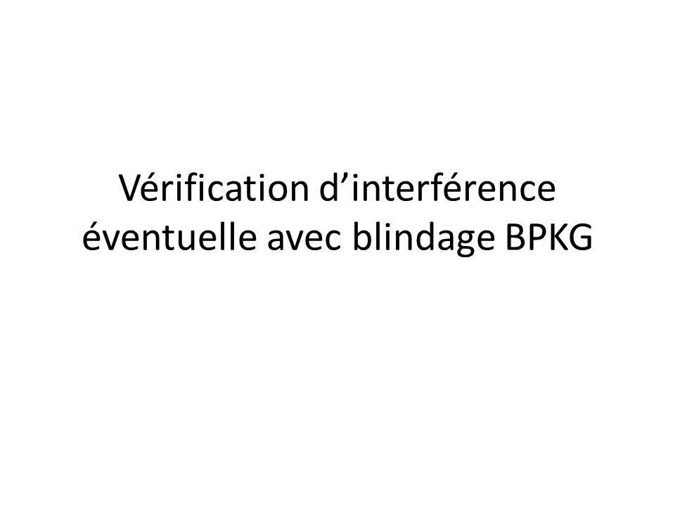 Vérification dinterférence éventuelle avec blindage BPKG