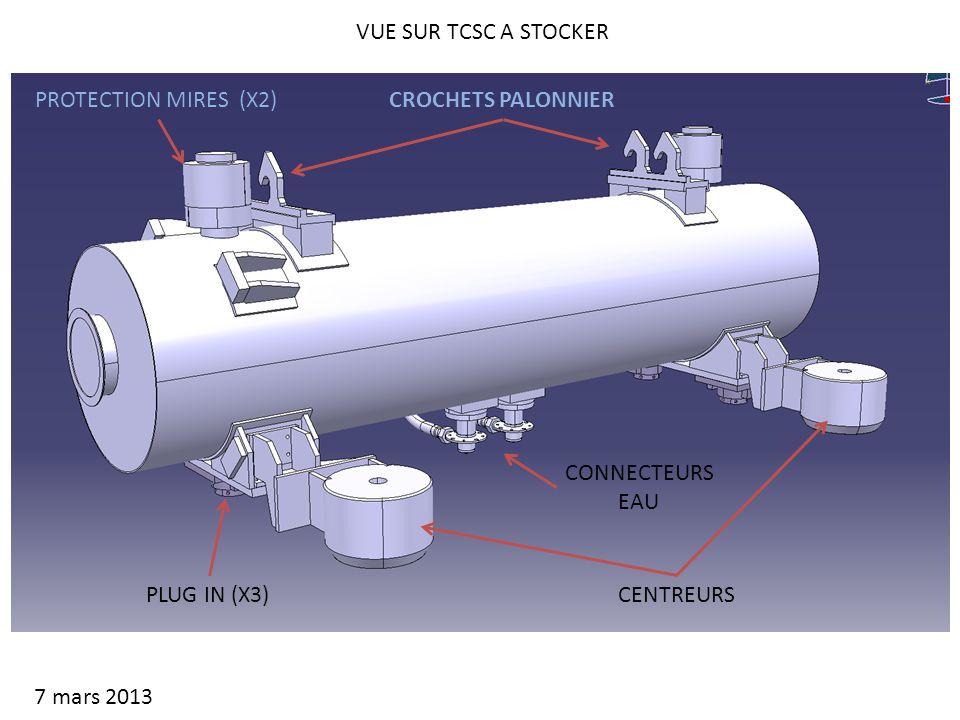 VUE SUR TCSC A STOCKER 7 mars 2013 CENTREURSPLUG IN (X3) PROTECTION MIRES (X2)CROCHETS PALONNIER CONNECTEURS EAU