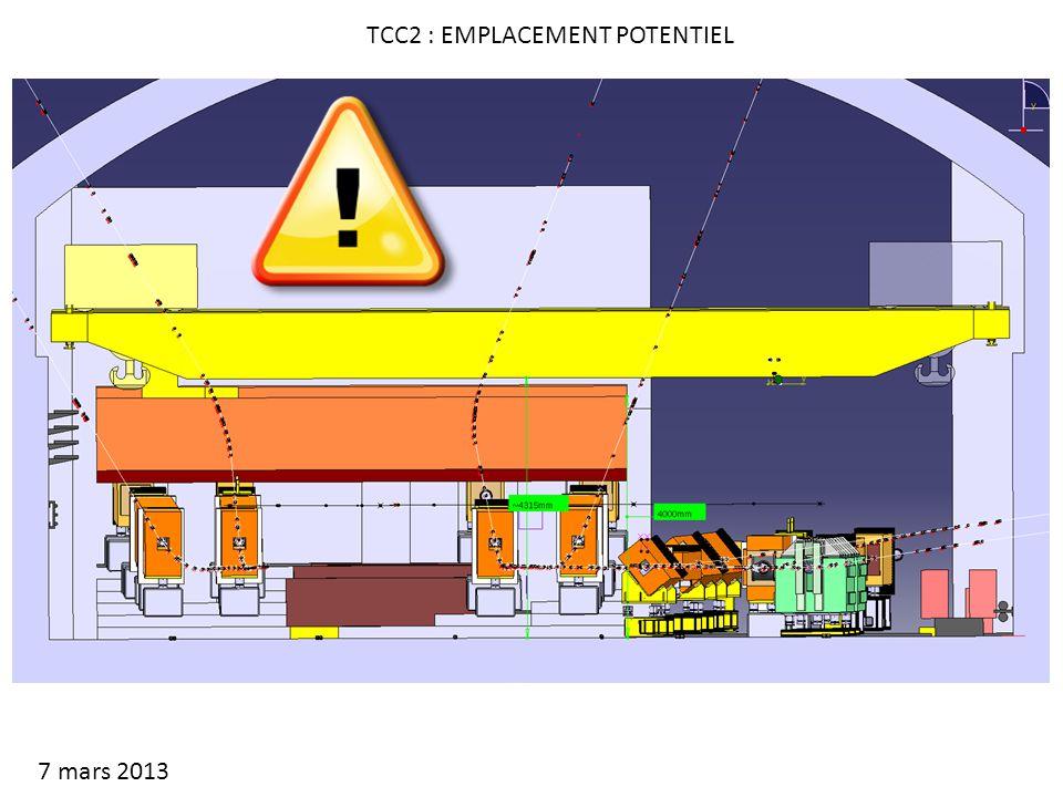 TCC2 : EMPLACEMENT POTENTIEL 7 mars 2013