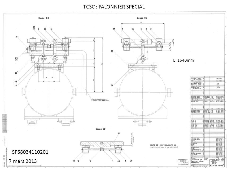 SPS8034110201 TCSC : PALONNIER SPECIAL L=1640mm 7 mars 2013