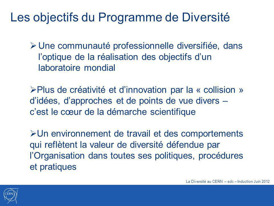 Une communauté professionnelle diversifiée, dans loptique de la réalisation des objectifs dun laboratoire mondial Plus de créativité et dinnovation pa