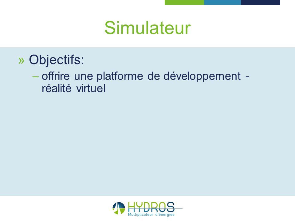Objectifs: –offrire une platforme de développement - réalité virtuel
