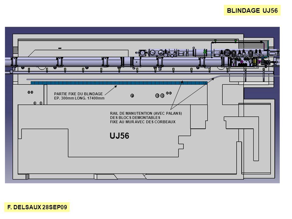 F. DELSAUX 28SEP09 BLINDAGE UJ56 PARTIE FIXE DU BLINDAGE EP.