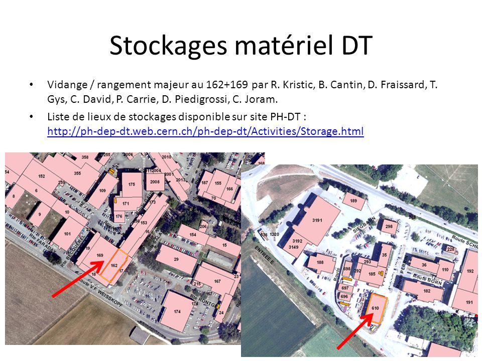 Stockages matériel DT Vidange / rangement majeur au 162+169 par R. Kristic, B. Cantin, D. Fraissard, T. Gys, C. David, P. Carrie, D. Piedigrossi, C. J
