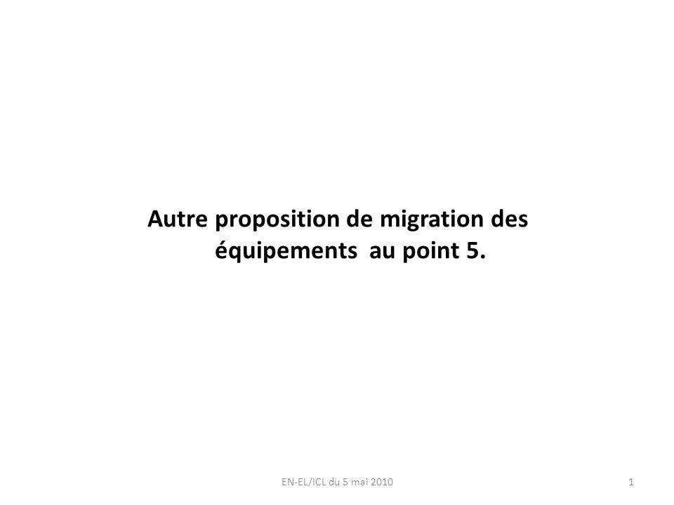 Autre proposition de migration des équipements au point 5. EN-EL/ICL du 5 mai 20101