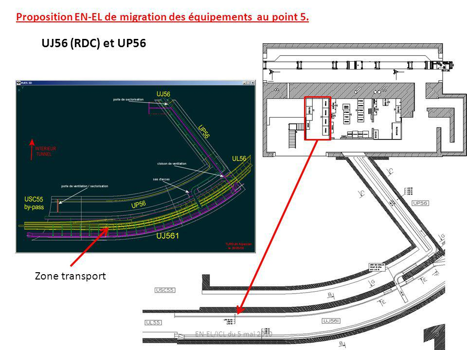 EN-EL/ICL du 5 mai 2010 UJ56 (RDC) et UP56 Zone transport 8 Proposition EN-EL de migration des équipements au point 5.