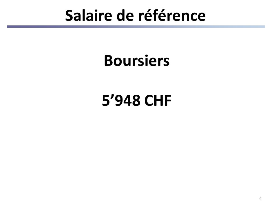4 Salaire de référence Boursiers 5948 CHF