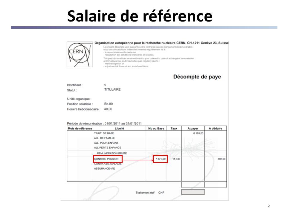 5 Salaire de référence