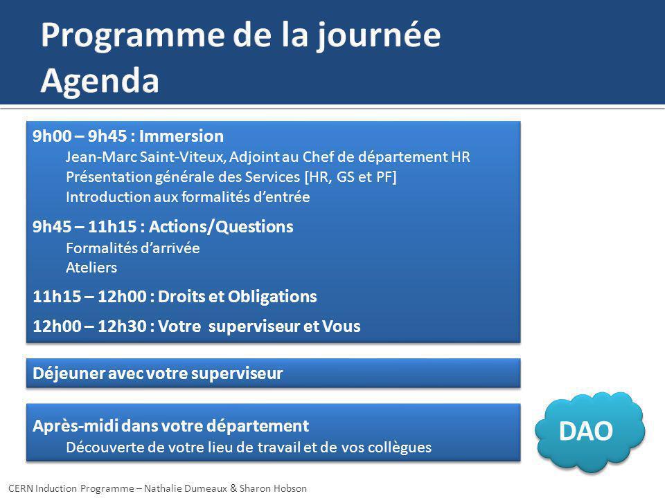 9h00 – 9h45 : Immersion Jean-Marc Saint-Viteux, Adjoint au Chef de département HR Présentation générale des Services [HR, GS et PF] Introduction aux f