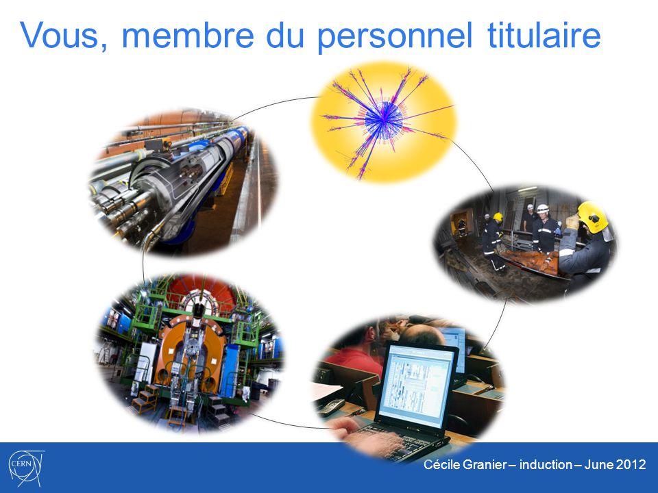 Cécile Granier – induction – June 2012 Vous, membre du personnel titulaire