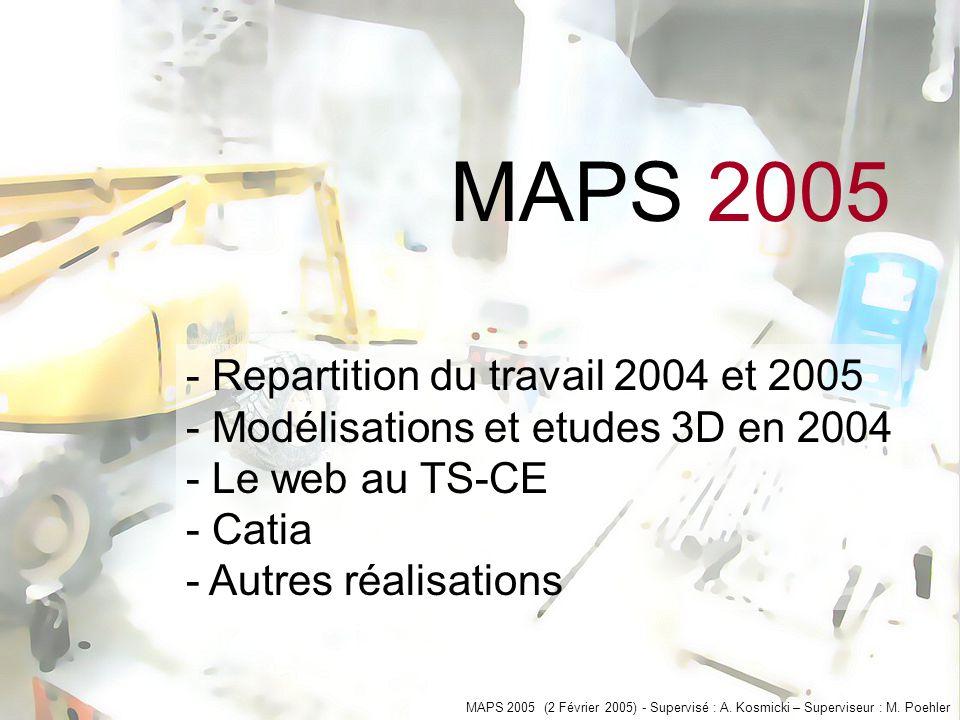 MAPS 2005 (2 Février 2005) - Supervisé : A. Kosmicki – Superviseur : M.