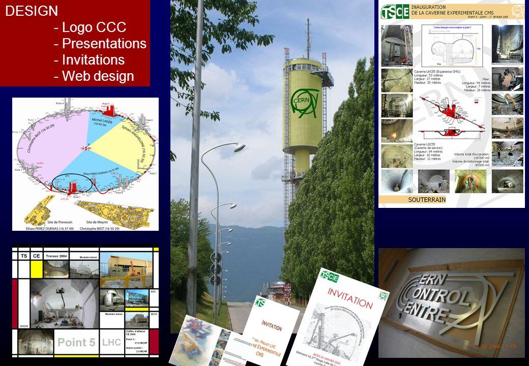 DESIGN - Logo CCC - Presentations - Invitations - Web design