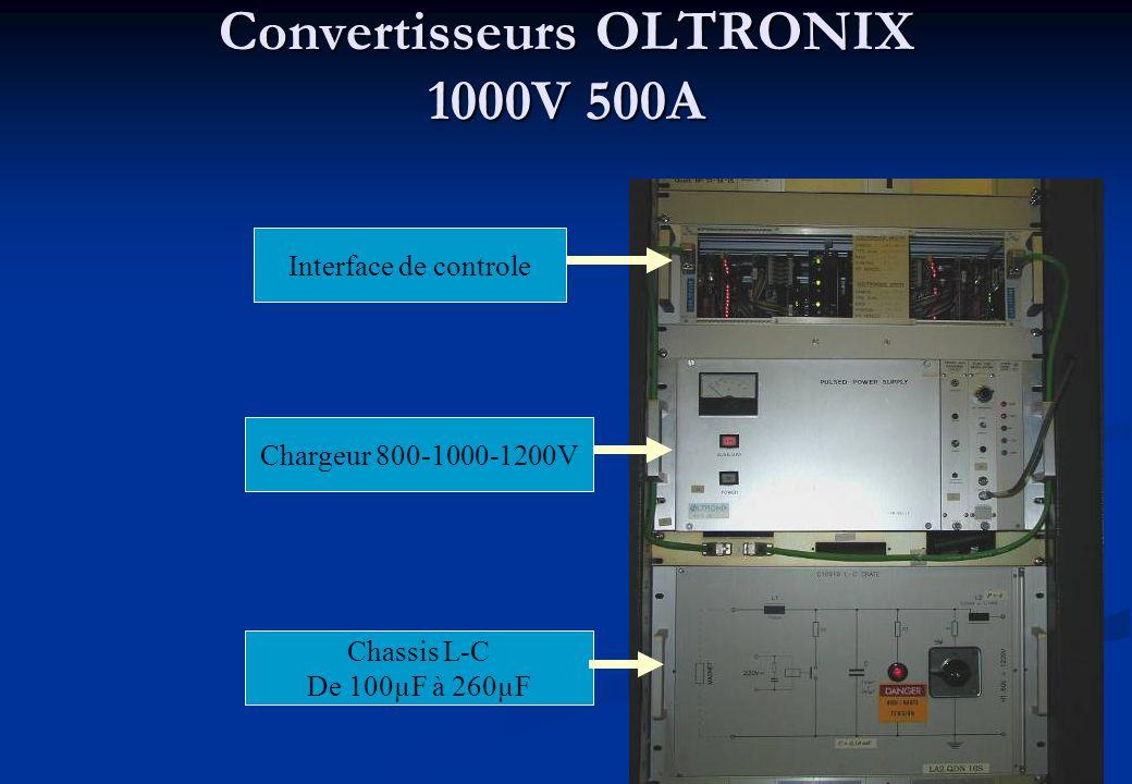Convertisseurs OLTRONIX 1000V 500A Interface de controle Chargeur 800-1000-1200V Chassis L-C De 100µF à 260µF