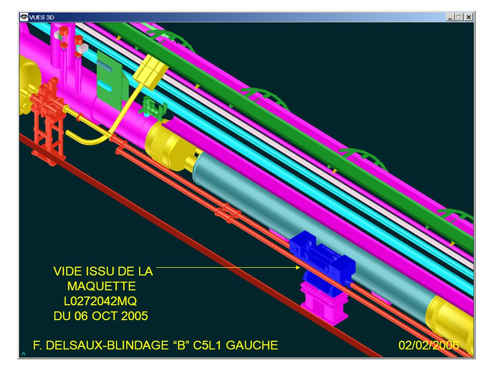 F. DELSAUX-BLINDAGE B C5L1 GAUCHE02/02/2006 VIDE ISSU DE LA MAQUETTE L0272042MQ DU 06 OCT 2005