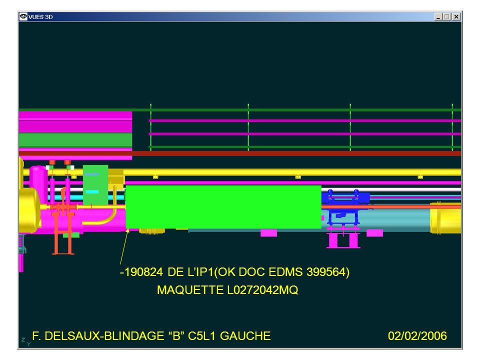 F. DELSAUX-BLINDAGE B C5L1 GAUCHE02/02/2006 -190824 DE LIP1(OK DOC EDMS 399564) MAQUETTE L0272042MQ