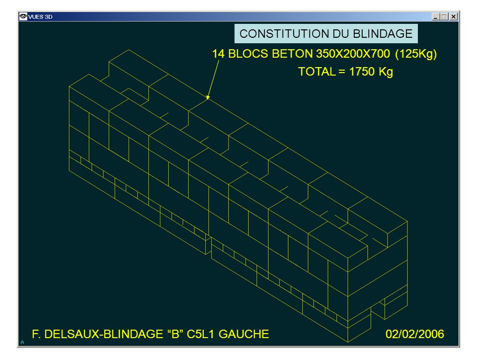 F. DELSAUX-BLINDAGE B C5L1 GAUCHE02/02/2006 VIDE ISSU DE LA MAQUETTE L0272042MQ