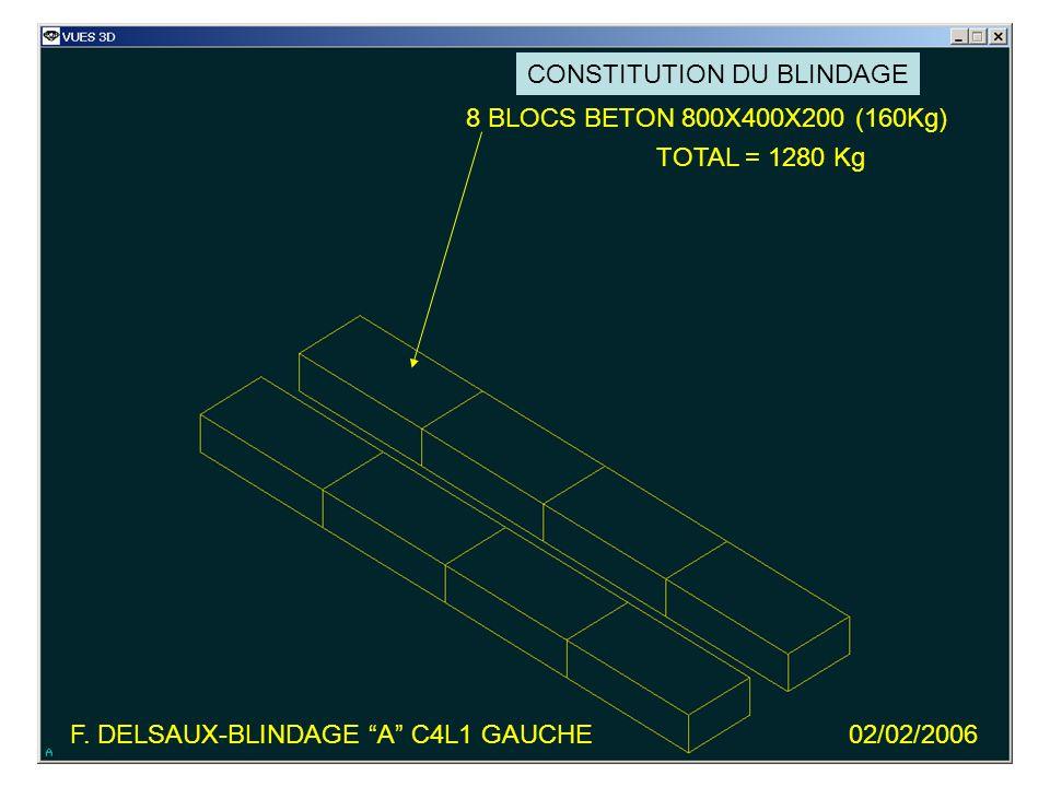 8 BLOCS BETON 800X400X200 (160Kg) TOTAL = 1280 Kg F.