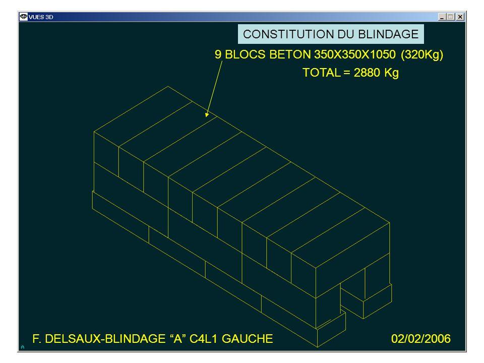 6 BLOCS BETON 350X350X1050 (320Kg) TOTAL = 1920 Kg F.