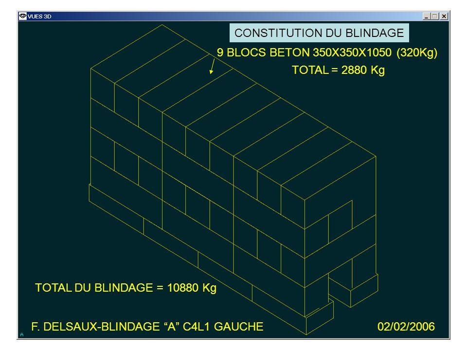 9 BLOCS BETON 350X350X1050 (320Kg) TOTAL = 2880 Kg F.