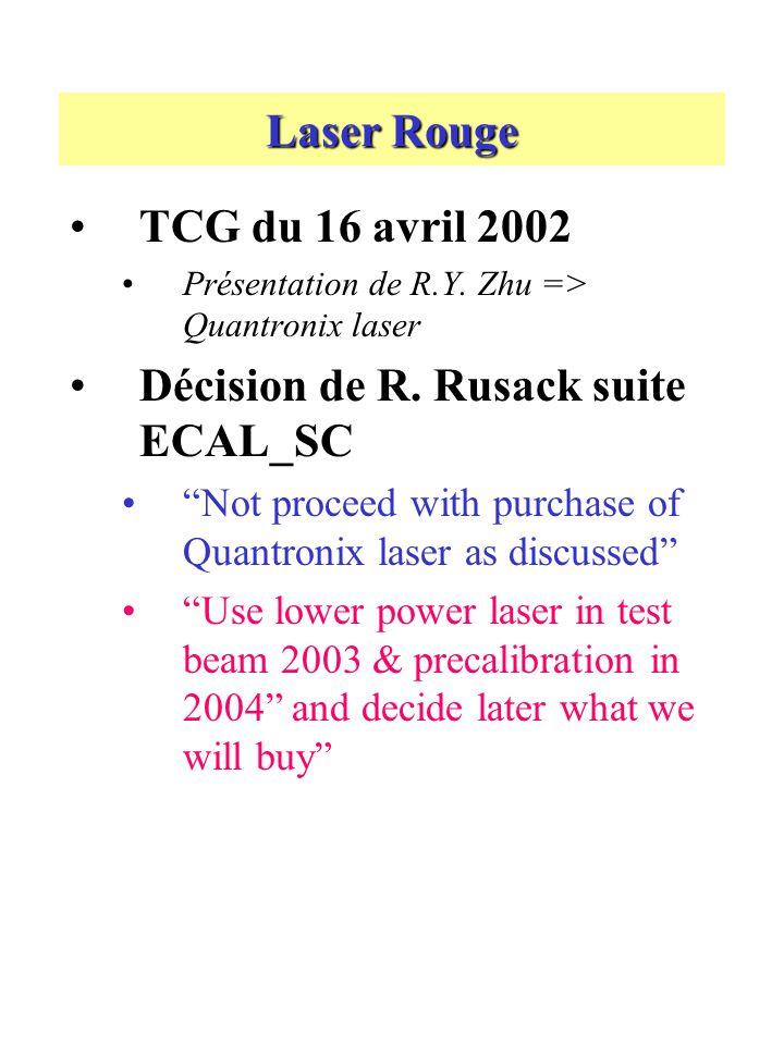 Laser Rouge TCG du 16 avril 2002 Présentation de R.Y.