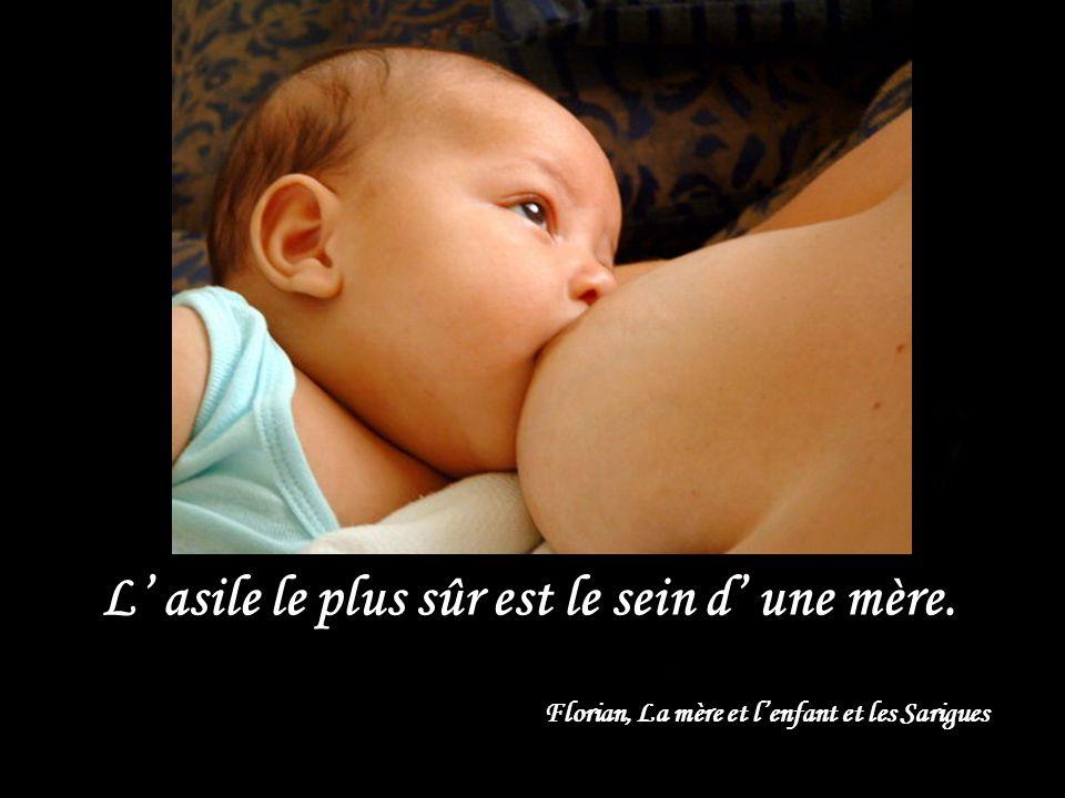 L asile le plus sûr est le sein d une mère. Florian, La mère et lenfant et les Sarigues