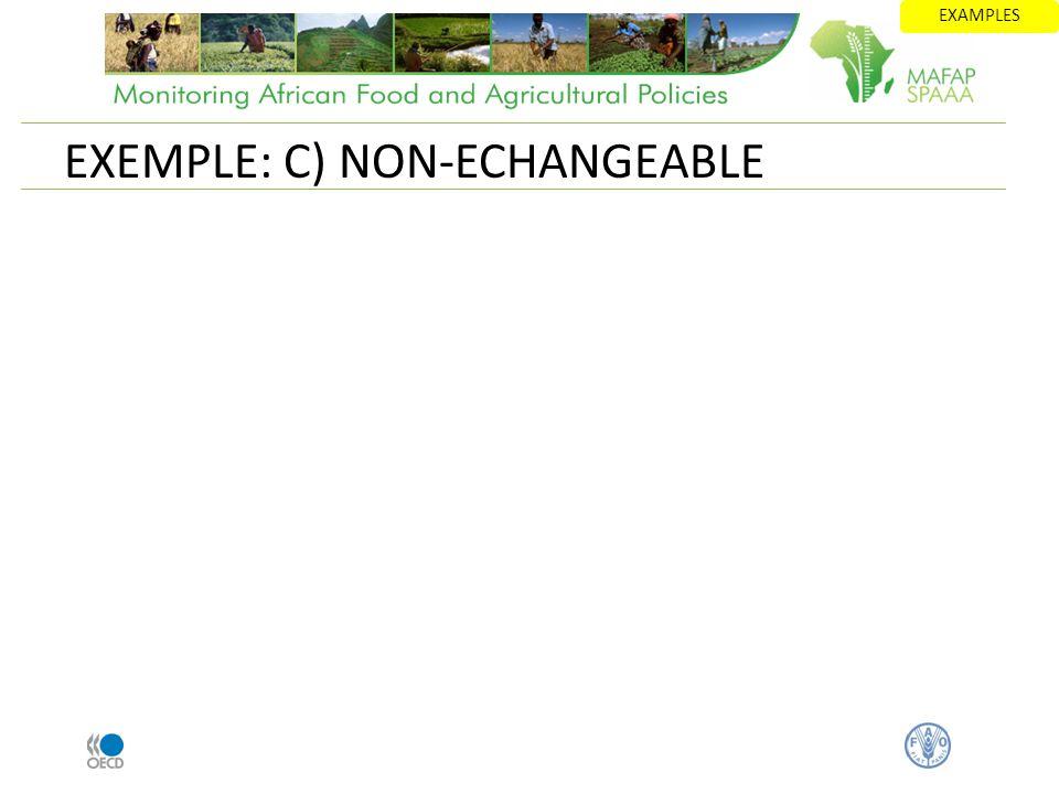 EXEMPLE: C) NON-ECHANGEABLE EXAMPLES