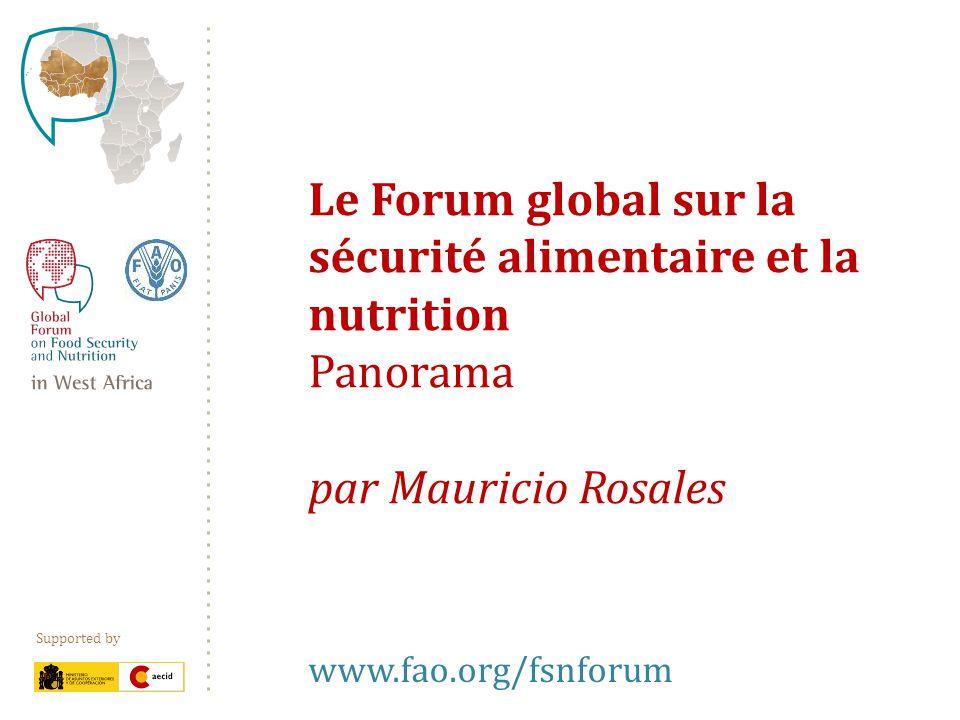 Supported by Activités Discussions en ligne Consultations axées sur les politiques Dialogues et espaces web ciblés et régionaux Enquêtes Création de réseaux Intégration des échanges virtuels et présentiels