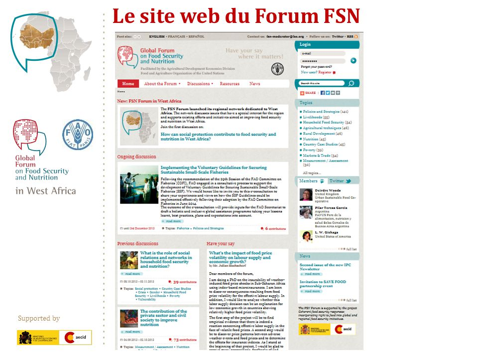 Supported by Le site web du Forum FSN