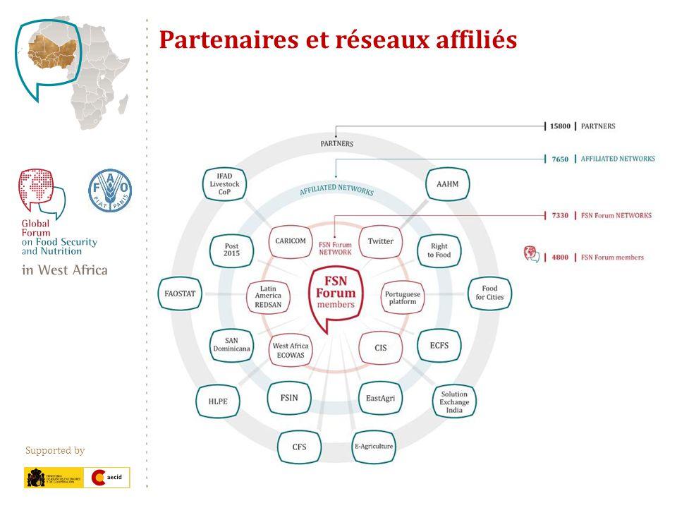 Supported by Partenaires et réseaux affiliés