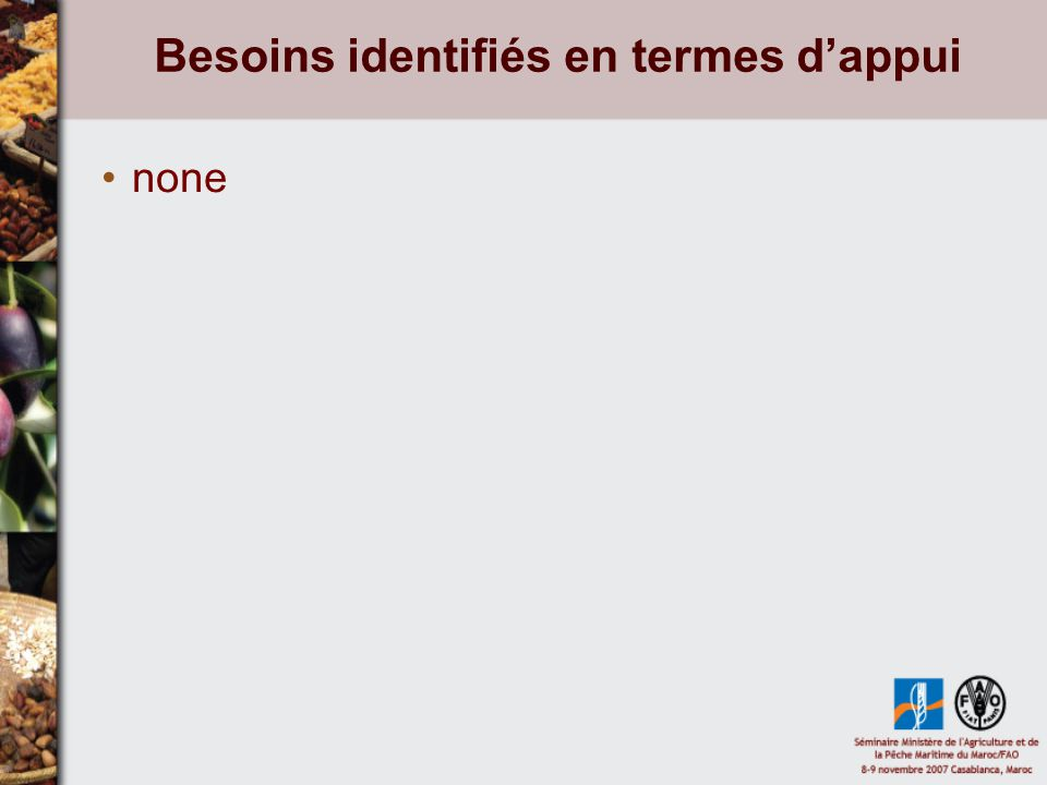 Besoins identifiés en termes dappui none