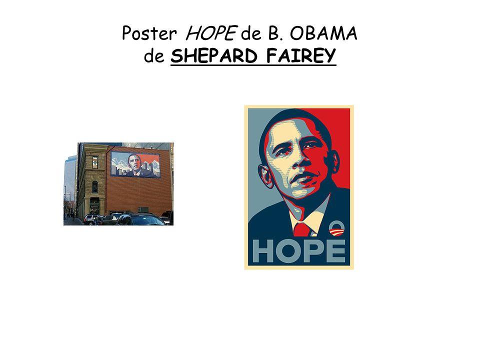 Poster HOPE de B. OBAMA de SHEPARD FAIREY