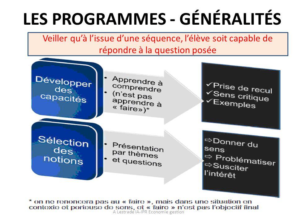 Définition des Sciences de Gestion A Lestrade IA-IPR Economie gestion