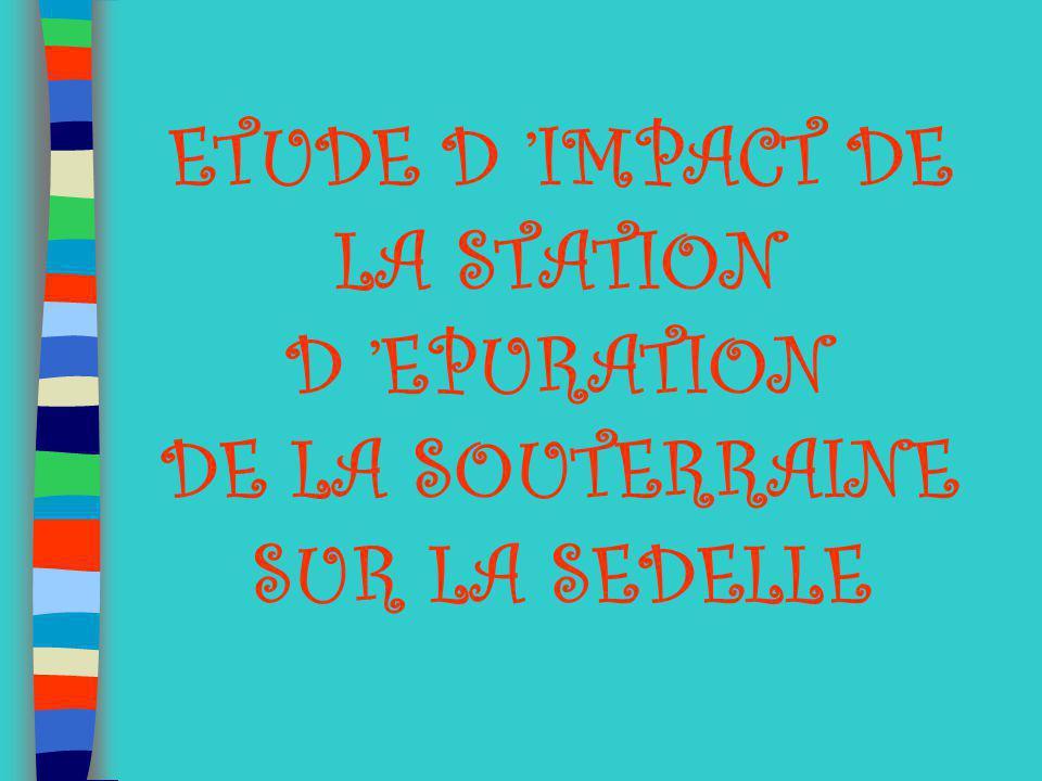 ETUDE D IMPACT DE LA STATION D EPURATION DE LA SOUTERRAINE SUR LA SEDELLE