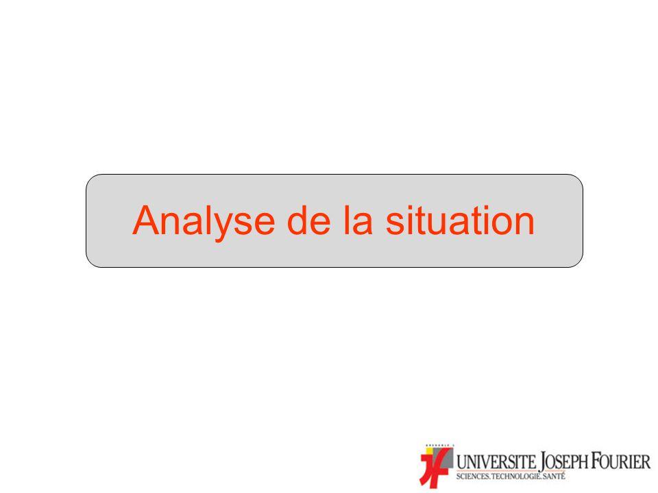 Etat des lieux : –Réforme de la licence à lUJF inachevée (DLST = L1+L2; L3 en UFR) –Auto-évaluation et évaluation de lAERES : Points positifs Insuffisances Solution dattente (statu quo) inappropriée –Maintiendrait réforme inachevée –Compliquerait les négociations avec MESR pour le CQ DLST (2)