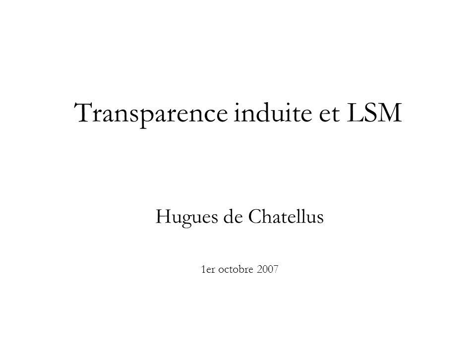 Transparence induite et LSM Hugues de Chatellus 1er octobre 2007