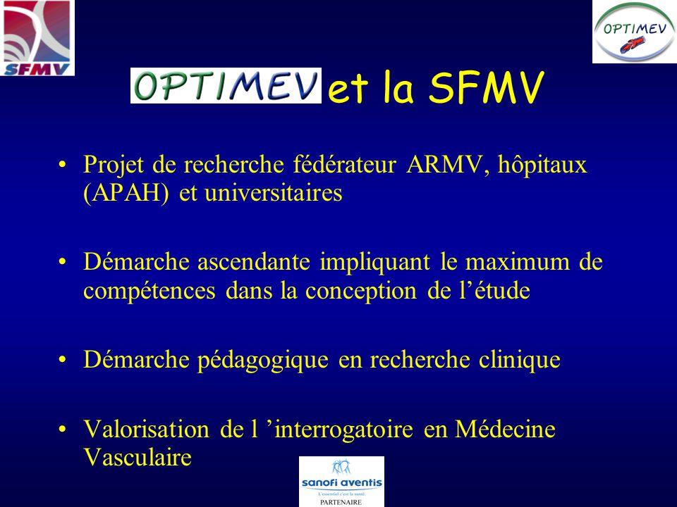 et la SFMV Projet de recherche fédérateur ARMV, hôpitaux (APAH) et universitaires Démarche ascendante impliquant le maximum de compétences dans la conception de létude Démarche pédagogique en recherche clinique Valorisation de l interrogatoire en Médecine Vasculaire