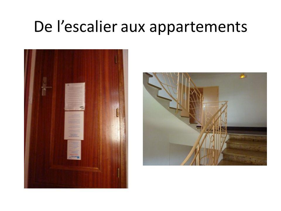 De lescalier aux appartements