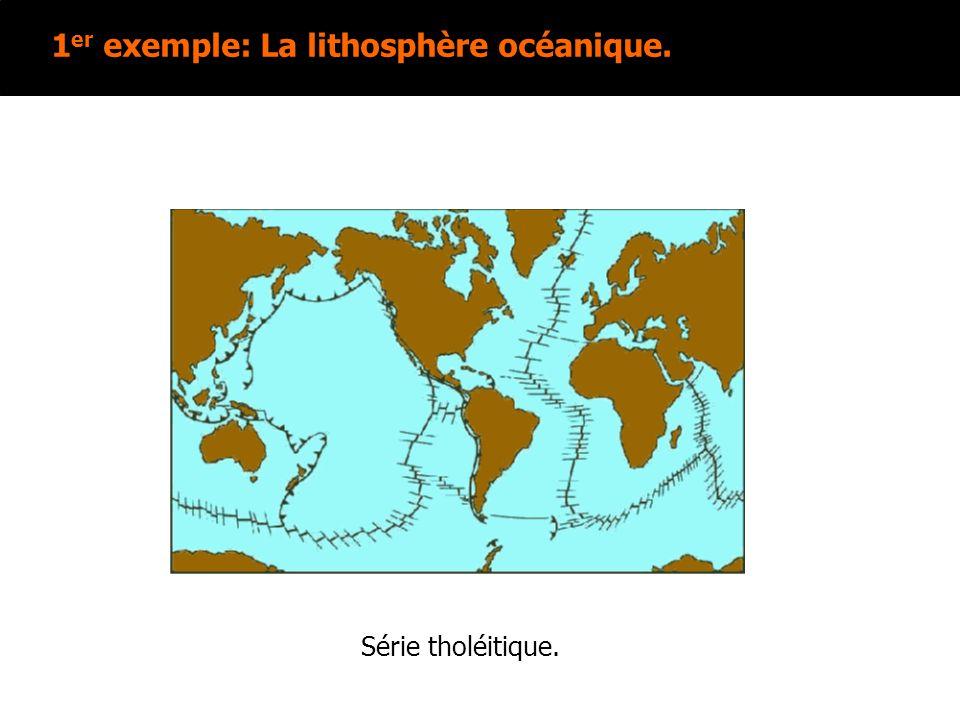 1 er exemple: La lithosphère océanique. Série tholéitique.